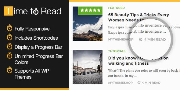 MyThemeShop WP Time To Read WordPress Plugin