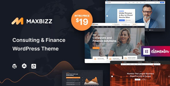Maxbizz - Consulting & Financial Elementor WordPress Theme